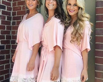 Bridesmaid Robe,Silk Floral Robe,Dressing Gown,Bridesmaids Robes gifts,Gift for Bridesmaid