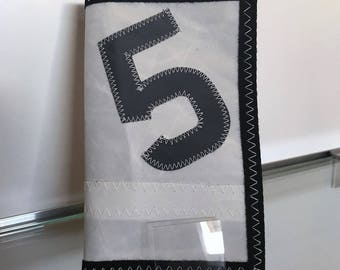 Wallet in grey 5 recycled boat sail