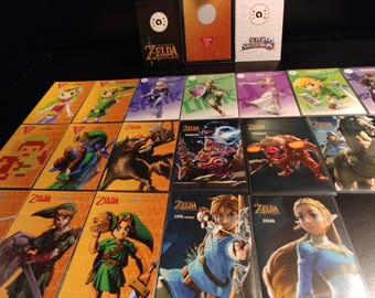 Zelda Amiibo Cards All 18 Complete Bundle Set or Singles w Hard sleeves
