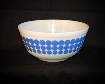 Vintage PYREX Blue Polka Dot #403/2.5 Quart Nesting Bowl