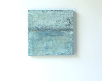 Original abstract acrylic painting on a gallery wrapped ready to hang canvas. Wabi-sabi home decor