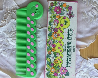 SALE!Vintage Avon Curly Caterpillar Comb NIB