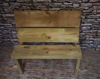 Narrowing Leg Garden Bench