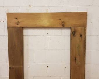 Solid Pine Fire Surround - Stained - Light/Medium/Dark