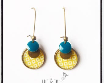 Collection of cabochons: mustard and teal