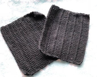 Set of two handmade washcloths