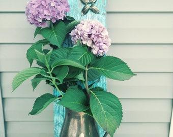 Vintage Wood Wall Vase