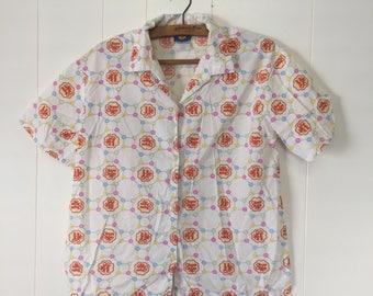 VINTAGE Unique Chupa Chups/Mitch Dowd Button Up Pyjama Shirt