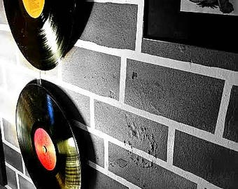 Hanging Records On Wall recycled records | etsy