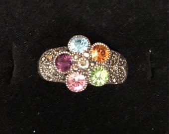 Ladies sterliver silver design ring 8.5
