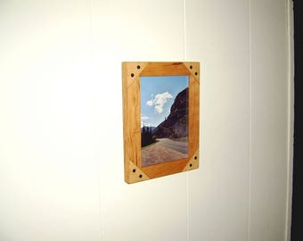 8x10 Cherry and Maple Picture Frame
