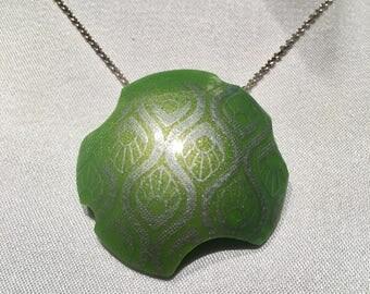 Green silkscreened pendant