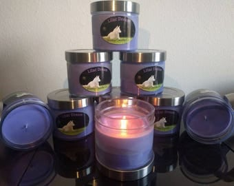 Handmade 16oz Soy Candle - Pink Melon, Lilac Dream
