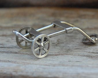 Sterling Silver Hand Truck Charm