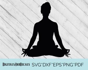 Yoga Clipart Yoga SVG, Yoga Cutting File, Yoga Silhouette Yoga Dxf  Yoga Clip Art, Yoga Cutting Files, Cricut Files  Silhouette Files