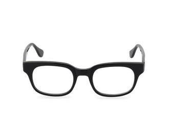 Caine in Black, cool sophisticated and classic 60s spectacle frame design
