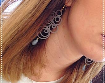 Grey acrylic earrings