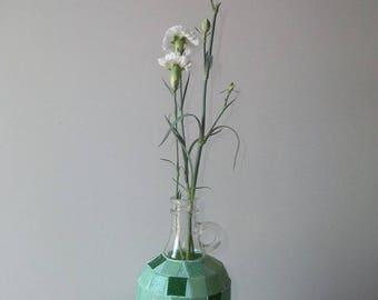 Mosaic bottle vase