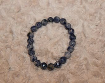 Marbled Blue Beaded Bracelet