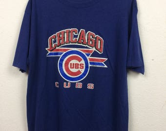 Vintage 80s Champion Chicago Cubs MLB Baseball T Shirt Size XL