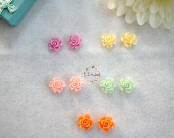 Flower clip on earrings Girls clip on earrings Kids clip on earring Kids play earrings Play earring Toddler clip on earring Floral earrings