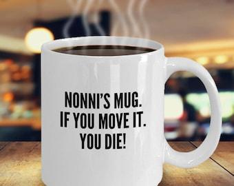 Funny Nonni Mug for Coffee and Tea