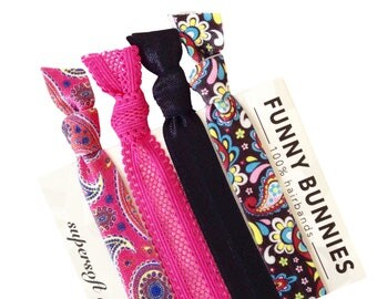 PAISLEY PARK - 4 bracelets / hair ties - funnybunnies supersoft