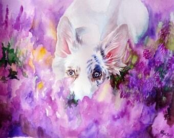 White in Lavender