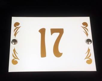 Modern House Number Plaque Design 2/ Door Number Plaque / Personalised Sign Street Plaque