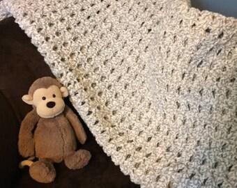 Handmade Cozy Chunky Crochet Blanket-Large