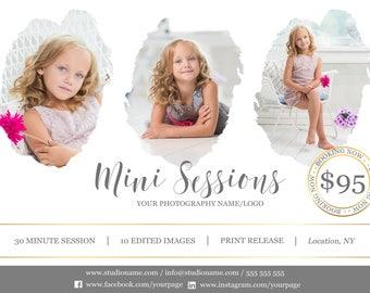 Mini Session Photoshop Template - Digital Flyer - Marketing for Photographers