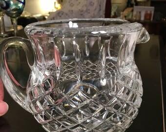 Beautiful lead crystal pitcher American Diamond pattern