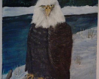 Bald Eagle Pride Oil Painting