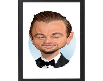 Digital Drawing Leonardo Dicaprio Poster