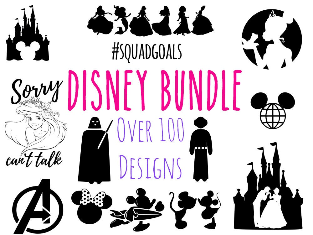 Disney Svg Bundle Disney Ariel Disney Princess Svg Mickey