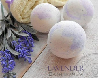 Organic Bath Bombs Lavendova. All Natural Bath Bomb, no artificial dye or fragrance, Gifts for her.