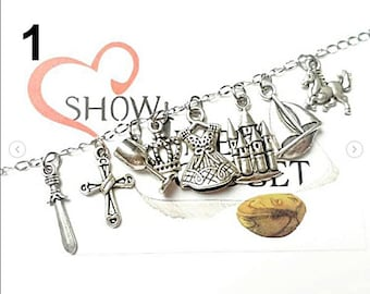 Francis and Mary Queen themed bracelet - Tv Show - choose your bracelet