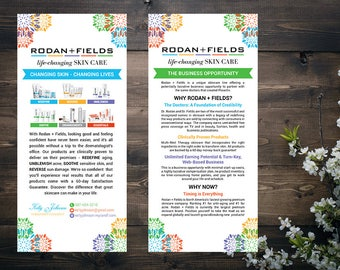PERSONALIZED Rodan and Fields Business Opportunity, Fast Personalized, Rodan Fields Independent Consultant, Business Opportunity Flyer RF15