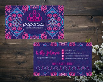 PERSONALIZED Paparazzi Business Card,Paparazzi Punch Cards, Custom Paparazzi Accessories Business Card, Printable Business Card PZ17