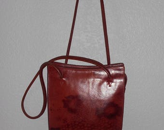 Ellington women's burgundy leather shoulder bag