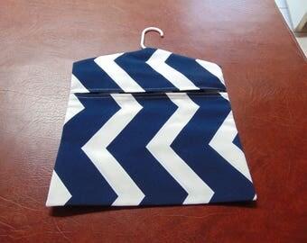 clothespin Bag Navy and cream