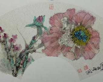 Hand made Chinese painting Flower