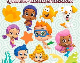 Bubble Guppies PNG, Bubble Guppies Clipart, Guppies Images, Bubble Files, Clipart Party, Instant Download 11
