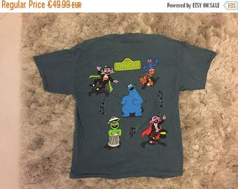 LAST DAY 35% OFF Jim Henson Sesame Street T shirt Changes Nyc made Usa - men Size L