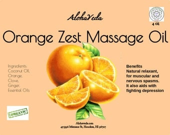 Orange Zest Massage Oil