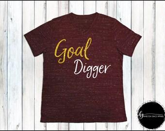 Goal Digger Shirt Girl Boss Shirt Entrepreneur Shirt Women's Trendy Shirt Boss Lady Shirt Lady Boss Shirt Boss Gift Gift for Mom Boss Shirt
