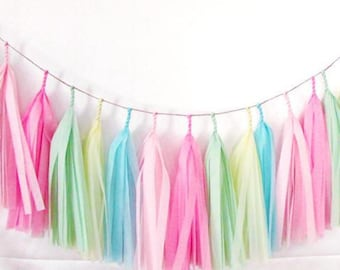 Tissue Tassel garland - ice cream party,ice cream sundae