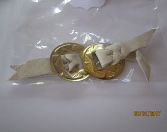 Vintage conchos with leather ties