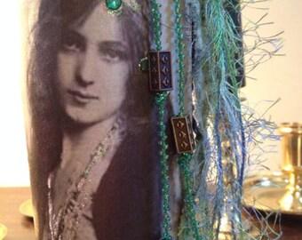 Gypsy Bottle Gypsy Mixed Media Magical Gypsy Girl Decor