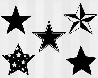 Star SVG Bundle, Star clipart, Star cut files, Stars svg, svg files for silhouette, files for cricut, svg, dxf, eps, cuttable design